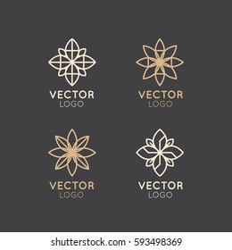Vector Icon Style Logo Sign of  Alternative Medicine. IV Vitamin Therapy, Anti-Aging, Wellness, Ayurveda, Chinese Medicine. Holistic centre. Green Energy Mandala
