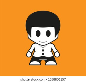 Vector Icon Super Hero Character Isolated. Boy pictogram. Vector