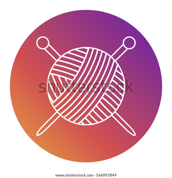 Vector Icon Tangle Yarn Knitting Needles Stock Vector Royalty Free 566893849