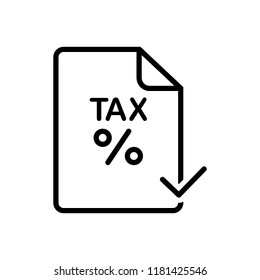 Vector icon for tax