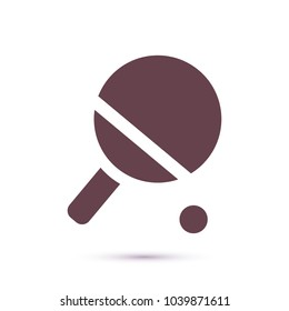 Vector icon tennis racquet 10 EPS