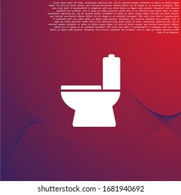 Vector icon toilet 10 EPS . Lorem Ipsum Illustration design