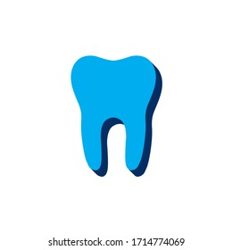 Vector icon tooth isometric. 3d  sign isolated on white background.