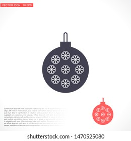 Vector icon toy christmas tree 10 EPS . Lorem Ipsum Illustration design