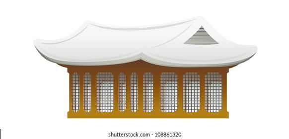 vector icon traditional building
