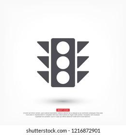 Vector icon traffic light 10 EPS