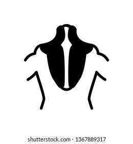 Vector  icon for trapezius