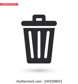 vector icon trash can . Lorem Ipsum Illustration design