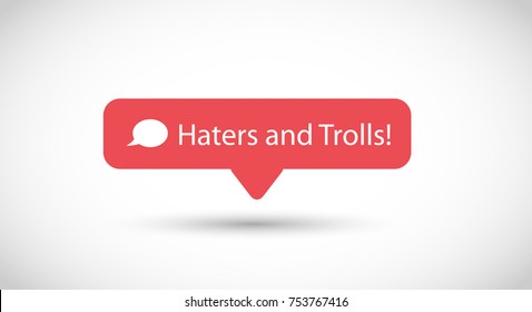 Vector icon for trolling and hate comments