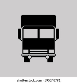 Vector icon of a truck