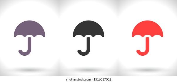 Vector icon umbrella 10 EPS . Lorem Ipsum Illustration design