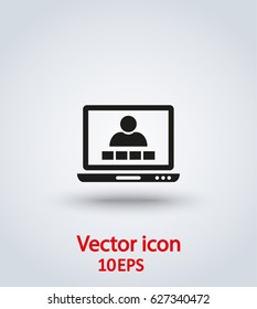 Vector icon video conference