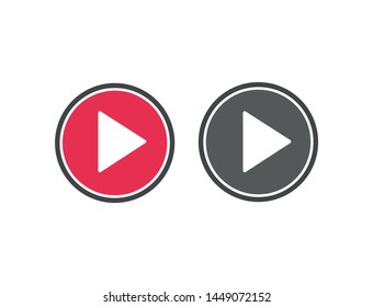 Vector icon video player 10 EPS