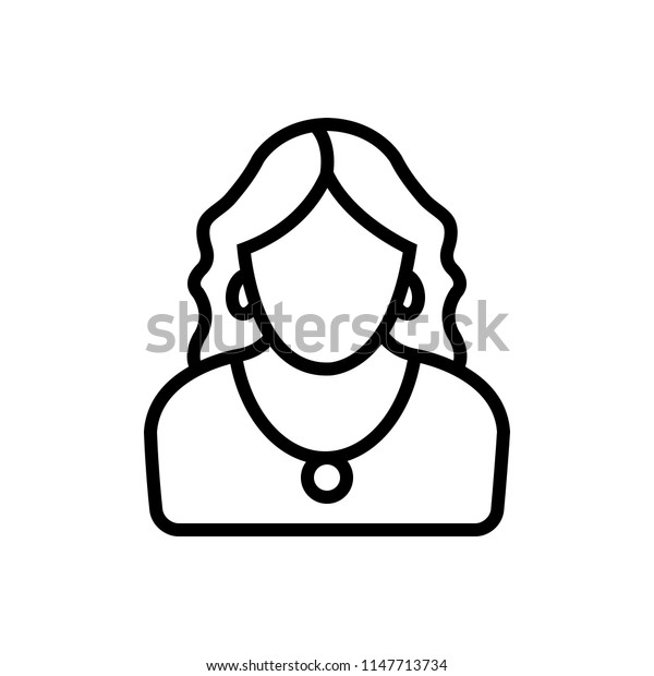 Vector icon for woman