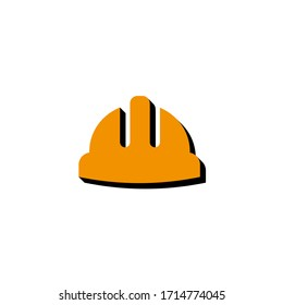 Vector icon working helmet isometric. 3d  sign isolated on white background.