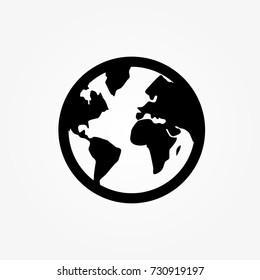 Vector icon world