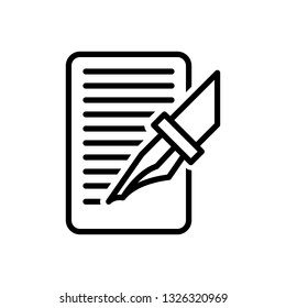 Vector icon for write