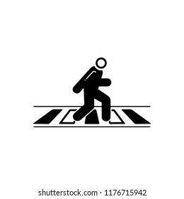 Vector icon for zebra  crossing