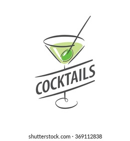 vector icons of alcoholic drinks by the glass