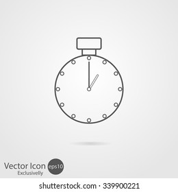 Vector icons clock or stopwatch.