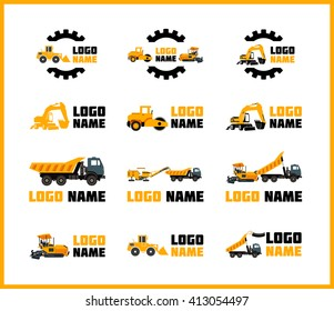 Vector icons construction equipment that can be used for logos