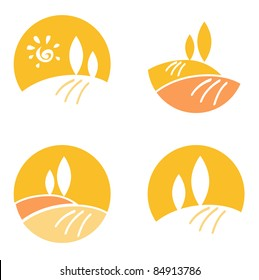 Vector icons and design elements collection: Nature Landscape, Hills.