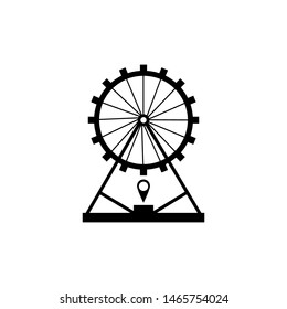 Vector icons of different attractions in amusement park eps