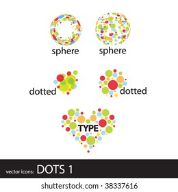 vector icons: dots 1