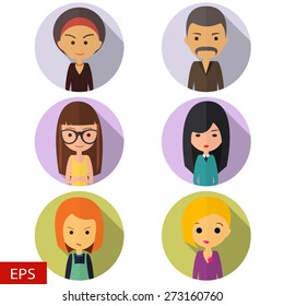 vector icons flat with people