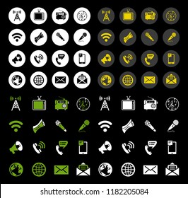vector icons of like, handset, icons for social media, network, websites, interfaces. Like icon. Social media icons set. news