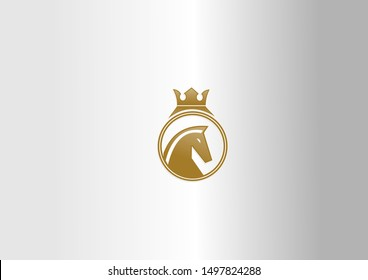 Vector icons and logo design elements. King Horse vector illustration