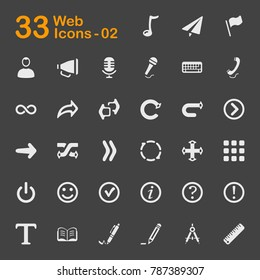 Vector icons for mobile phone interface, web, applications