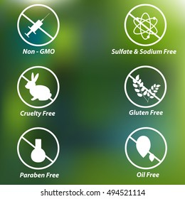 Vector Icons for Organic and Natural Products