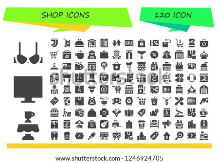 Vector icons pack of