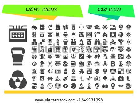 vector icons pack of 120 filled light icons  simple modern icons about - fuse  box