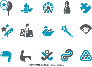 Vector icons pack - Blue Series, play collection
