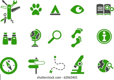 Vector icons pack - Green Series, exploration collection