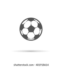 vector icons soccer ball colorless, isolated object