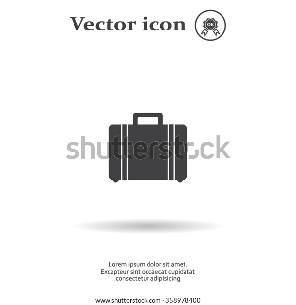 Vector icons suitcase
