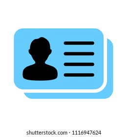vector id card. user identity sign - identification pass isolated. security icon