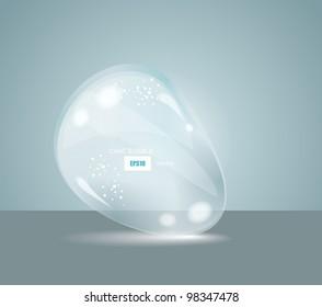 Vector Idea Bulbs. Glass Chat Bubbles