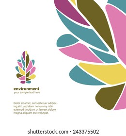 Vector identity template with oak leaves