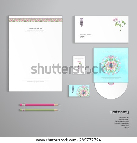 Vector Identity Templates Letterhead Envelope Business Stock Vector