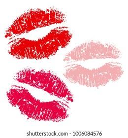 Vector illustrarion icon lips