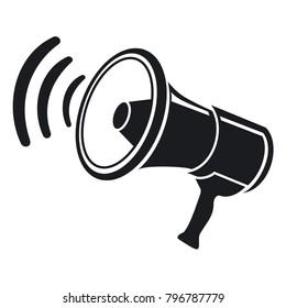 Vector illustrarion icon megaphone
