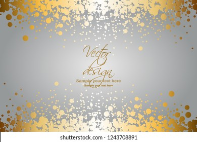 Vector illustrartion of Gold glitter on a gray background. Vector design