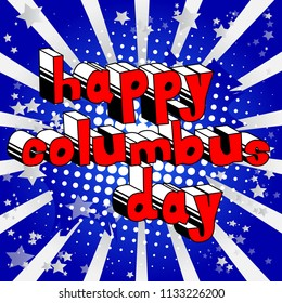 Vector illustrated banner or poster for Colombus Day holiday.