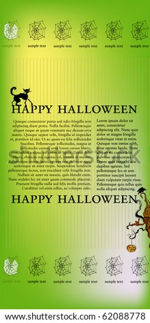 vector illustrated halloween web template stock vector royalty free