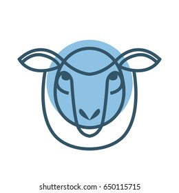 Vector illustrated Portrait of Ram or sheep