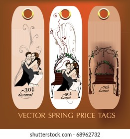 vector illustrated summer price-tags